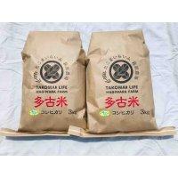 精米3kg×2 令和2年産 新米 特別栽培米コシヒカリ多古米(精米)3kg袋×2